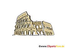 Colosseum Clipart, Beeld, Cartoon