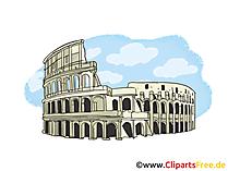 Coliseum in Rome Afbeelding, clipart, illustratie, gratis graphic