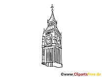 London Bild, Zeichnung, Clipart gratis