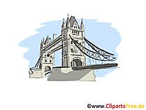 ロンドンクリップアート、絵、漫画
