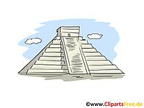 Maya Pyramide des Kukulcan Clip Art, Bild