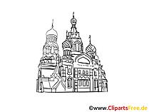Moskau Bild, Zeichnung, Clipart gratis