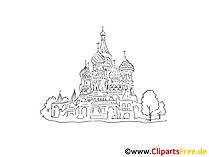 Moskau Clipart schwarz-weiss