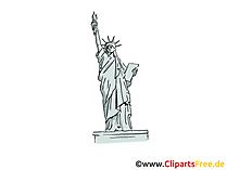 New York Clipart, Beeld, Cartoon