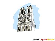Notre Dame de Paris Clipart, afbeelding