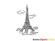 パリのクリップアート白黒