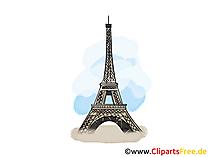 Parijs kaart, illustraties, foto, illustratie