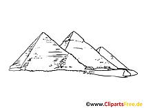 Piramides afbeelding, tekening, clipart gratis