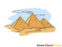 Pyramiden Clipart, Bild, Cartoon