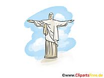 Rio de Janeiro illustratie, afbeelding, clipart, gratis grafisch
