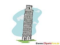 Scheve toren van Pisa Clipart, foto, tekenfilm