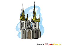 Kasteelafbeelding, clipart, illustratie, gratis grafisch