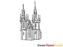 Schloss Zeichnung, Clipart gratis