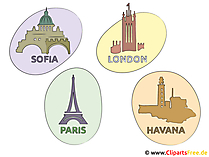 Sofia, Paris, London, Havanna Bilder