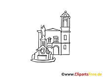 Spanje, Madrid Afbeelding, tekening, gratis clipart