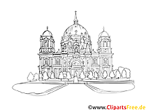 Berlin domkirke tegning, bilde, illustrasjon
