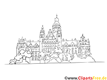 Cathedral Drawing - Cliparts Tyske byer