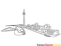 Düsseldorf tegning, illustrasjon, bilde gratis