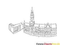 Gambar Munich, clipart gereja, gambar arsitektur