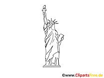 Statue of Liberty National Monument Clip Art, Afbeelding, Beeld vrij