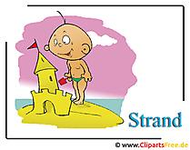 Strand cartoon clipart vakantie