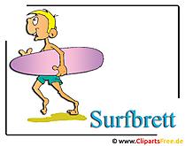 サーフボードクリップアートビーチ