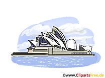 シドニーオペラハウスオーストラリアイメージ、クリップアート、イラスト、無料グラフィックアート