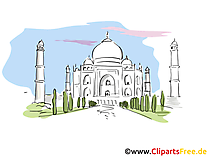Taj Mahal Clip Art, Bild, Cartoon
