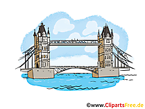 Tower Bridge Clip Art, Illustration, Picture