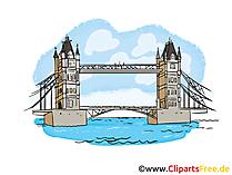 Tower Bridge Clip Art, Illustratie, Beeld