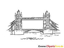 Tower Bridge in London Bild, Zeichnung, Clipart gratis