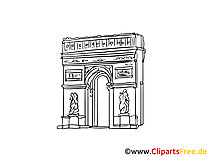 Triumphbogen Bild, Zeichnung, Clipart gratis