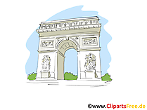 Triomfboog Clipart, beeld, tekenfilm