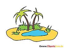 Tropic Islan Clip Art, Foto, Pic Gratis