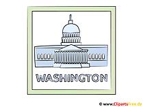 ワシントンDCのクリップアート