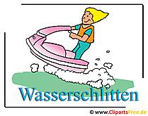 Wasserschlitten Bild Clipart free