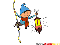 Jongen, kind. Lantaarn clipart, illustratie, foto
