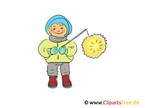 Junge mit Laterne Illustration, Clipart, Bild