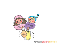 Kinder mit Laternen Illustration, Clipart, Bild gratis