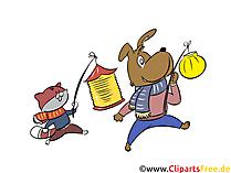Latarnia festiwal ilustracja, darmowe cliparty