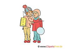Laternenfest im Kindergarten Illustration, Clipart, Bild
