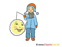 Mädchen mit Laterne Illustration, Clipart, Bild