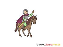 Ritter auf dem Pferd Illustration, Clipart, Bild