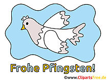 Free Clipart Taube  zu Pfingsten