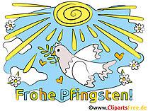 Glückwünsche zu Pfingsten Cliparts, Bilder, Grafiken