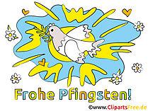 Grüße zu Pfingsten online Bild, Glückwunschkarte, E-Card
