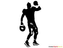 Silhouette Amerikanischer Fussball Spieler Clipart