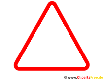 Dreieck Warnzeichen Clipart
