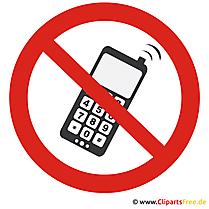 Keine Handys erlaubt Schild