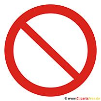 Verbotszeichen Bild